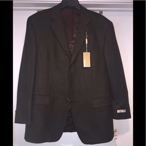 NWT MICHAEL Michael Kors Lambs Wool Blazer 42R